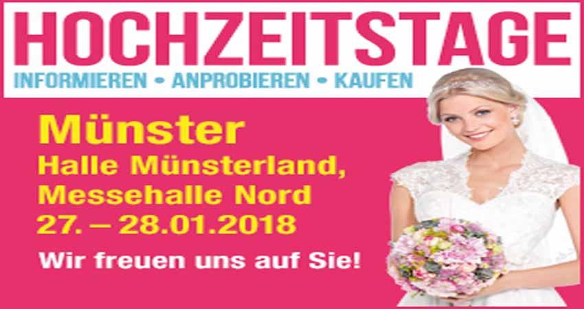 نمایشگاه عروسی و نامزدی HOCHZEITSTAGE MÜNSTER 2018 آلمان