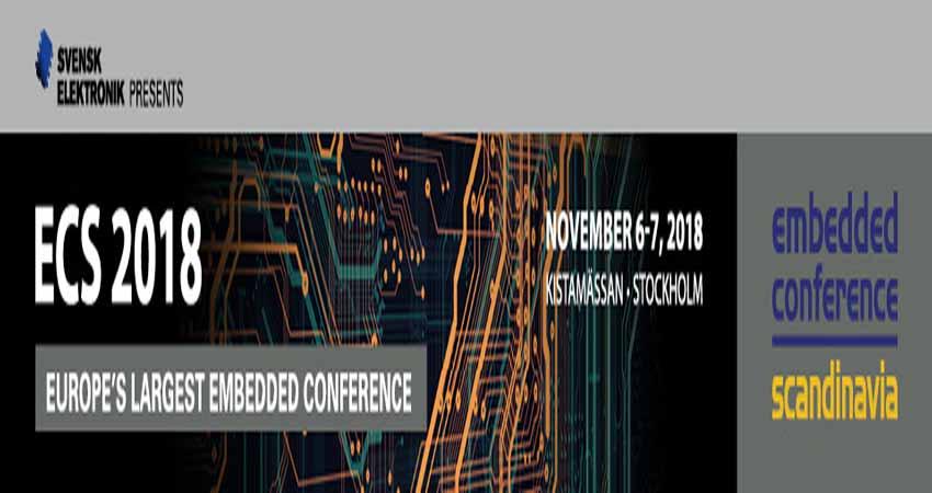کنفرانس فناوری و الکترونیک EMBEDDED CONFERENCE SCANDINAVIA 2018 سوئد