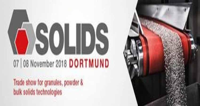 کنفرانس پودرهای جامد و گرانولی SOLIDS DORTMUND 2018 آلمان