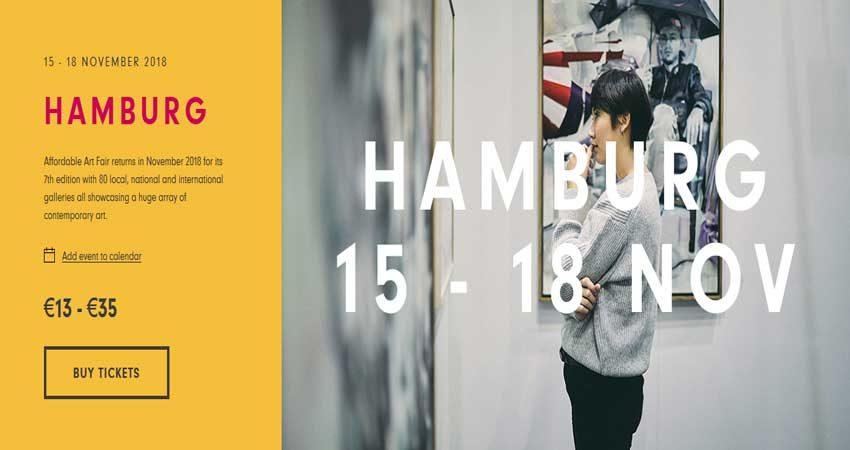نمایشگاه بین المللی هنرو عکاسی AFFORDABLE ART FAIR - HAMBURG 2018 آلمان