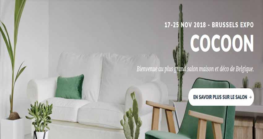 نمایشگاه خانه و طراحی COCOON – SMART LIVING – DESIGN BRUSSELS 2018 بلژیک