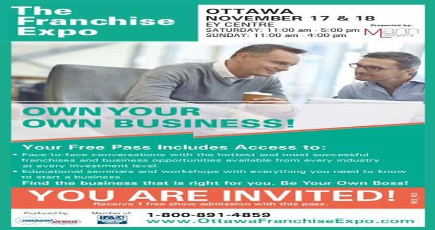 نمایشگاه فرانشیز و فرصتهای کسب و کار THE FRANCHISE EXPO - OTTAWA 2018 کانادا
