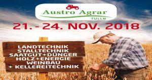 نمایشگاه کشاورزی و تکنولوژی های پایدار AUSTRO AGRAR TULLN 2018 اتریش
