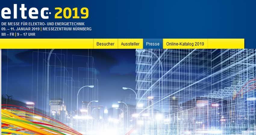 نمایشگاه تجاری برق ELTEC NÜRNBERG 2019 آلمان