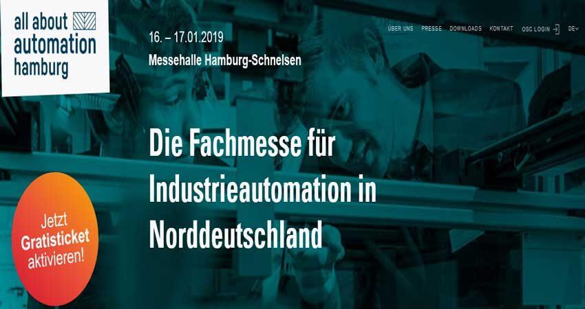 نمایشگاه اتوماسیون ALL ABOUT AUTOMATION - HAMBURG 2019 آلمان