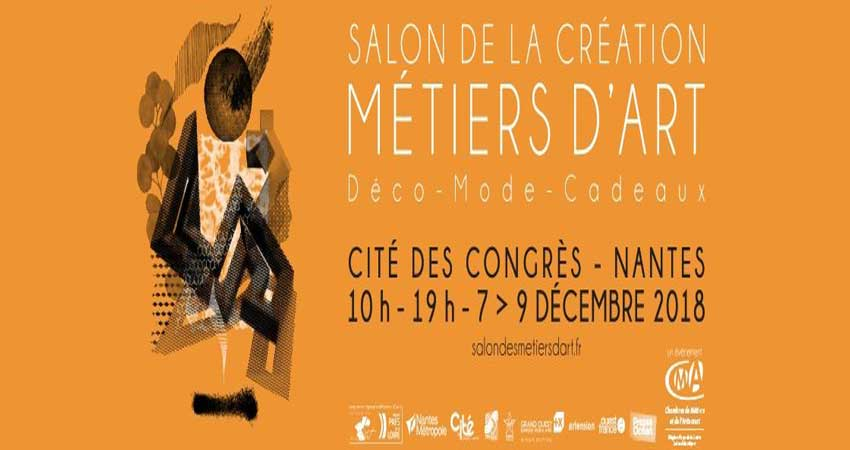 نمایشگاه هنرهای تجسمی و صنایع دستی SALONS DES MÉTIERS D'ART DE NANTES 2018 فرانسه