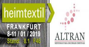 نمایشگاه بین المللی منسوجات HEIMTEXTIL 2019 آلمان