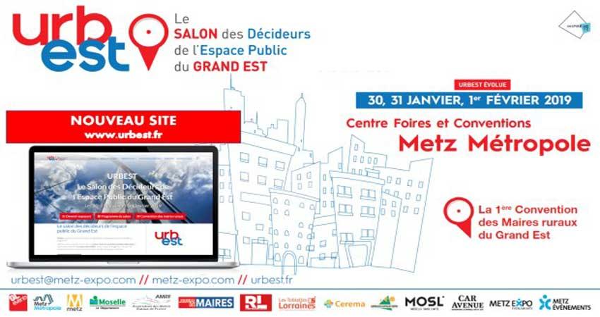 نمایشگاه تجهیزات شهری URBEST METZ 2019 فرانسه