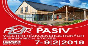 نمایشگاه ساختمان های کم مصرف انرژی FOR PASIV 2019 جمهوری چک