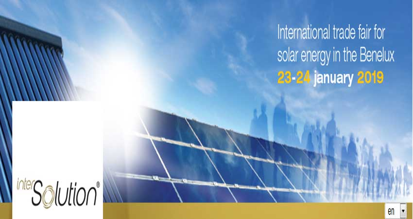 نمایشگاه بین المللی انرژی خورشیدی INTERSOLUTION 2019 بلژیک