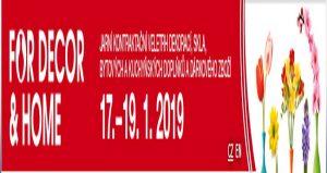 نمایشگاه دکوراسیون ، لوازم آشپزخانه FOR DECOR & HOME 2019 جمهوری چک