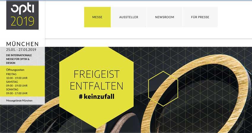 نمایشگاه بین المللی اپتیک و عینک OPTI – MÜNCHEN 2019 آلمان