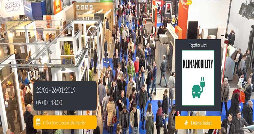 نمایشگاه تولید کنندگان پنجره ، درب و سازندگان نما KLIMAINFISSO 2019 ایتالیا