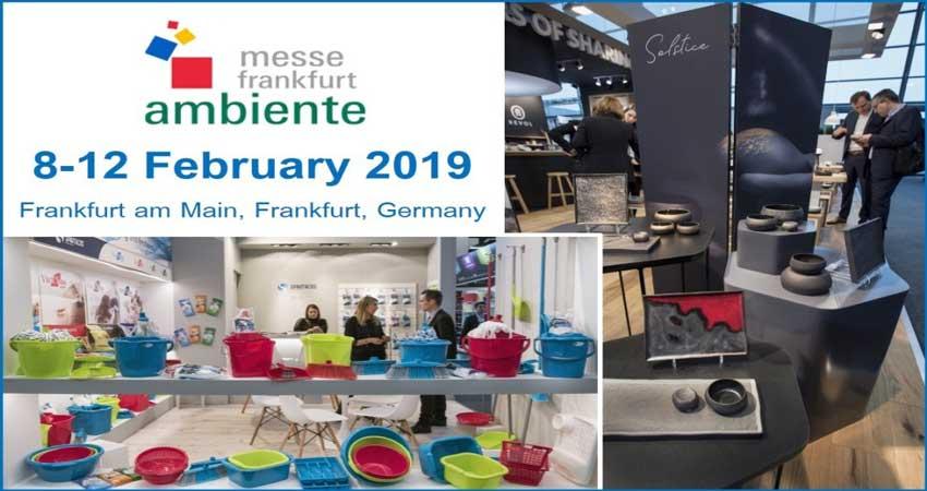 نمایشگاه بین المللی کالاهای مصرفی AMBIENTE GERMANY 2019 آلمان