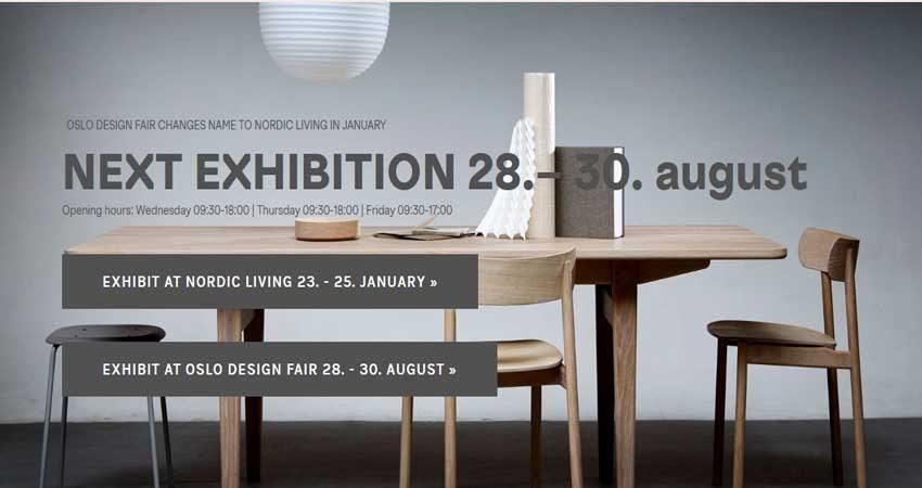 نمایشگاه طراحی و دکوراسیون داخلی OSLO DESIGN FAIR 2019 نروژ