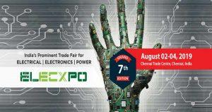 نمایشگاه بین المللی برق و الکترونیک ELECXPO 2019 هند