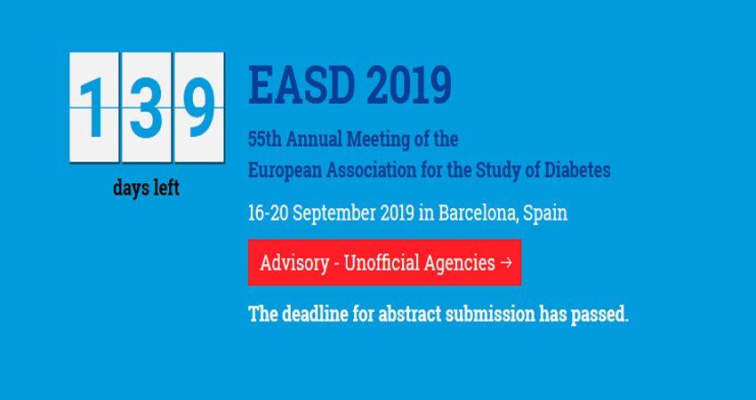 کنفرانس دیابت EASD ANNUAL MEETING 2019 اسپانیا