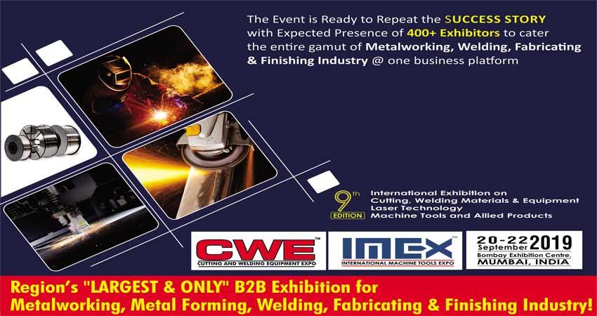 نمایشگاه برش و تجهیزات جوش CWE – CUTTING AND WELDING EQUIPMENT 2019 هند
