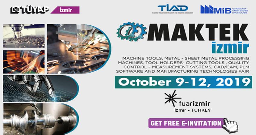 نمایشگاه ماشین آلات جوش و حفاری MAKTEK IZMIR 2019 ترکیه