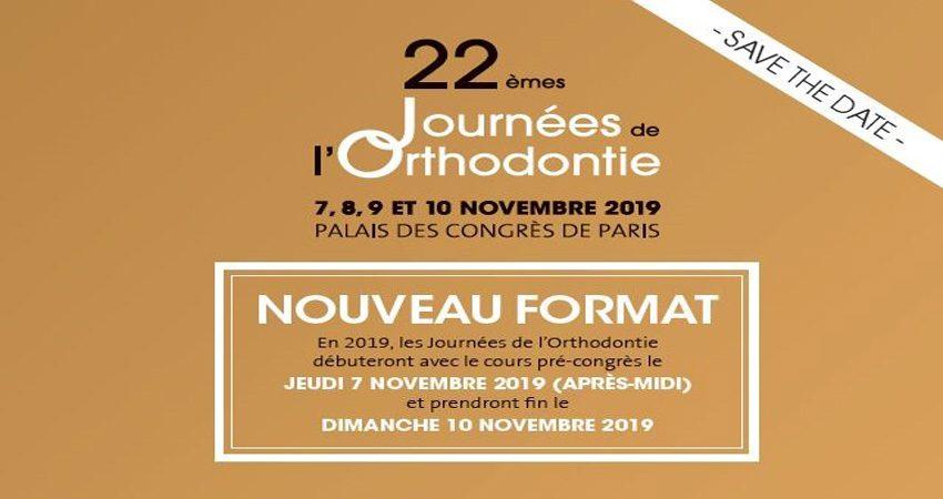 نمایشگاهی و کنفرانس ارتودنسی JOURNÉES DE L'ORTHODONTIE 2019 فرانسه