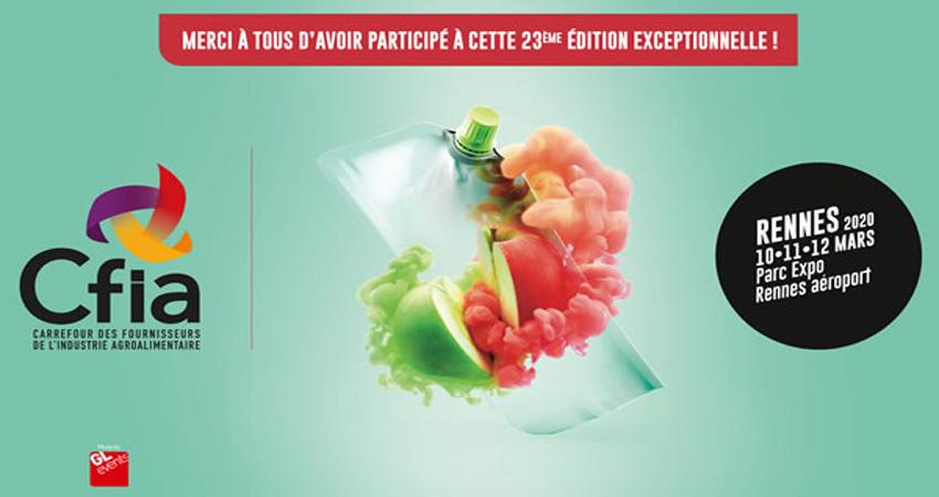 نمایشگاه صنعت مواد غذایی CFIA RENNES 2020 فرانسه