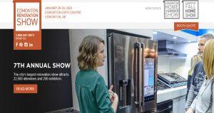 نمایشگاه لوازم خانگی و دکوراسیون EDMONTON RENOVATION SHOW 2022 کانادا